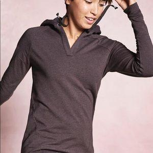 Athleta purple long sleeve hoodie sweatshirt Med